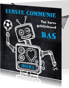 Communiekaarten - Communiekaart robot voetbal