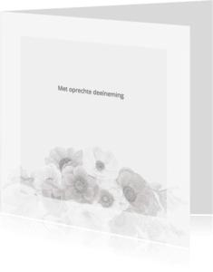 Condoleancekaarten - Condoleance anemonen