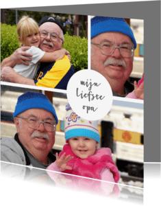 Condoleancekaarten - Condoleance foto opa oma