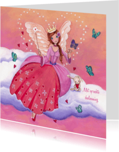 Condoleancekaarten - Condoleance Meisje ENGEL illustratie