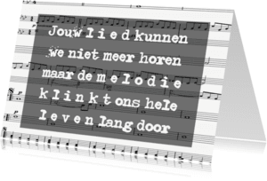 Condoleancekaarten - Condoleance Melodie donker - AW