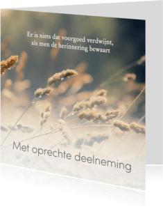 Condoleancekaarten - Condoleance, met oprechte deelneming - eigen tekst