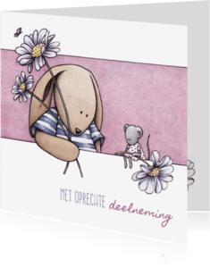 Condoleancekaarten - Condoleance T&M margriet - IH