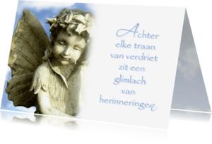 Condoleancekaarten - Condoleance traan