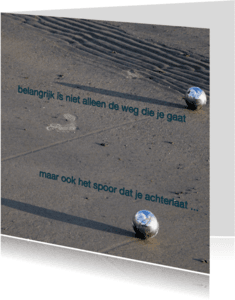 Condoleancekaarten - Condoleance Weg Spoor - AW