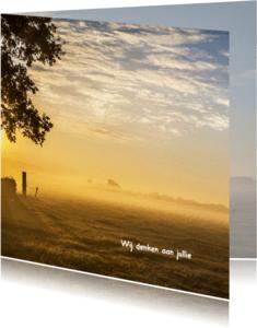 Condoleancekaarten - Condoleance zonsopkomst kleur