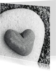Condoleancekaarten - Condoleancekaart Hart Steen 2