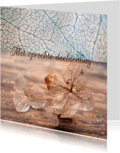 Condoleancekaarten - Condoleancekaart, hortensia foto