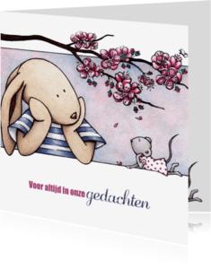 Condoleancekaarten - Condoleancekaart T&M bloesem-IH