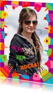 Verjaardagskaarten - Cupcakes Verjaardagskaart met Eigen Foto