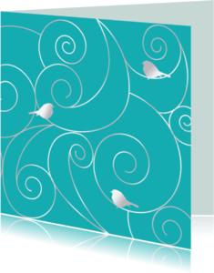 Dierenkaarten - curls in blauw