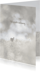 Condoleancekaarten - Deelneming  duinlandschap hert