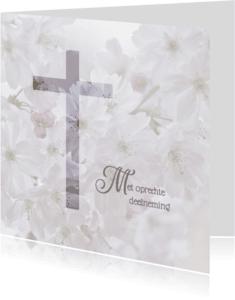 Condoleancekaarten - Deelneming met bloesem -vierkant