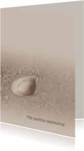 Condoleancekaarten - Deelneming met schelp