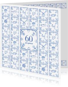 Jubileumkaarten - Delfts blauw jubileumkaart