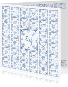 Liefde kaarten - Delfts blauw lief