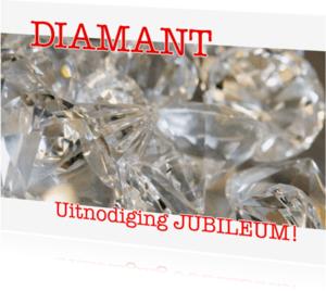 Jubileumkaarten - Diamant - Uitnodiging