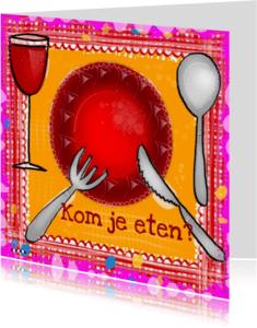 Uitnodigingen - Diner uitnodiging