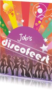 Uitnodigingen - Discofeest - disco retro dansfeest