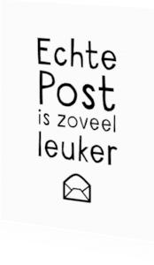 Zomaar kaarten - Echte post is zoveel leuker