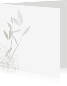 Rouwkaarten - eenvoudig met blad