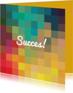 Succes kaarten - Eigen (succes)tekst op kleuren