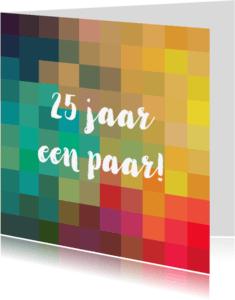 Jubileumkaarten - Eigen tekst en kleurige vakjes