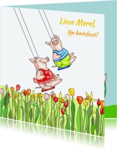 Communiekaarten - Eindelijk weer lentefeest