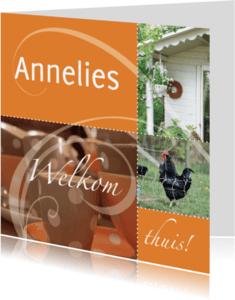 Welkom thuis kaarten - Elegante welkom thuis kaart