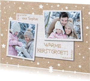 Kerstkaarten - Enkel foto kerstkaart kraft look