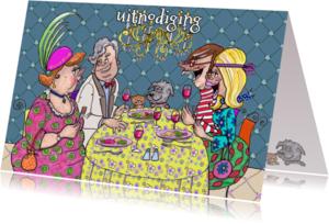 Uitnodigingen - etentje met een rode bril