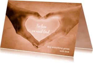 Religie kaarten - Everything grows - DH