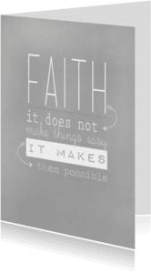 Spreukenkaarten - Faith