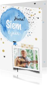 Kinderfeestjes - Feestelijke uitnodiging - ballon