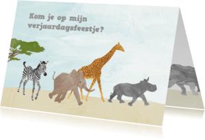 Kinderfeestjes - Feestje dieren uit Afrika
