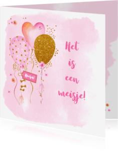 Felicitatiekaarten - Felicitatie geboorte ballonnen