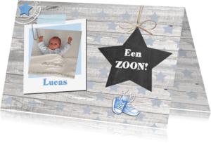 Felicitatiekaarten - felicitatie geboorte jongen ster