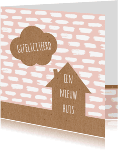 Felicitatiekaarten - Felicitatie  huis verfstrepen