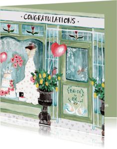 Felicitatiekaarten - Felicitatie Huwelijk Winkel Zwanen