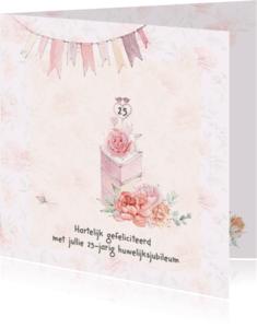 Felicitatiekaarten - Felicitatie huwelijksjubileum taart