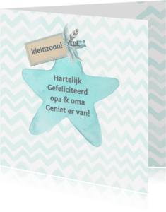 Felicitatiekaarten - Felicitatie kleinzoon ster label