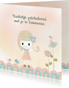 Felicitatiekaarten - Felicitatie meisje 1e communie