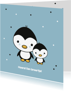 Felicitatiekaarten - Felicitatie - Pinguïn broertjes