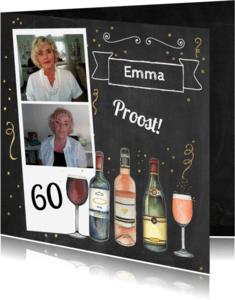 Verjaardagskaarten - Felicitatie verjaardag wijn foto