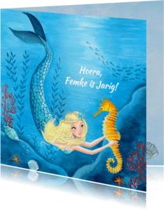 Verjaardagskaarten - Felicitatie Zeemeermin Zomer Zee