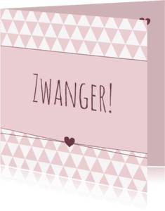 Felicitatiekaarten - Felicitatie - zwanger driehoek