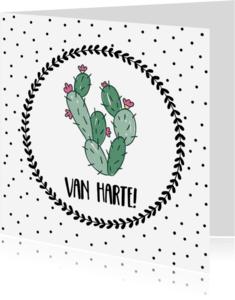 Felicitatiekaarten - Felicitatiekaart Cactus - WW