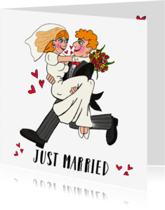 Felicitatiekaarten - Felicitatiekaart huwelijk PA