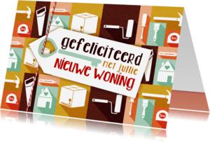 Verhuiskaarten - Felicitatiekaart nieuwe woning icoon