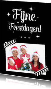Kerstkaarten - Fijne feestdagen Staand met foto